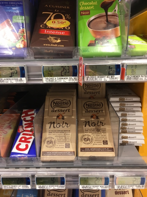 Chocolat étiquette