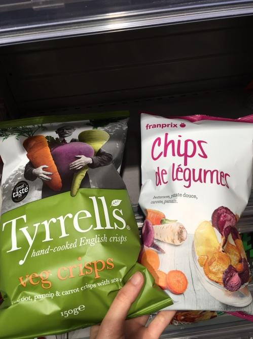 Les chips aux légumes Tyrrells Franprix