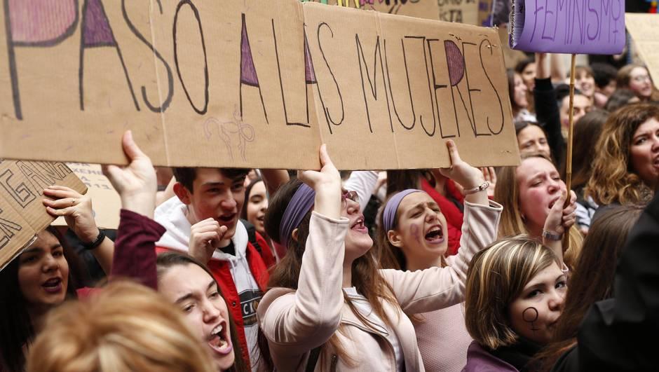 Grève Féministe Madrid 8 mars 2018