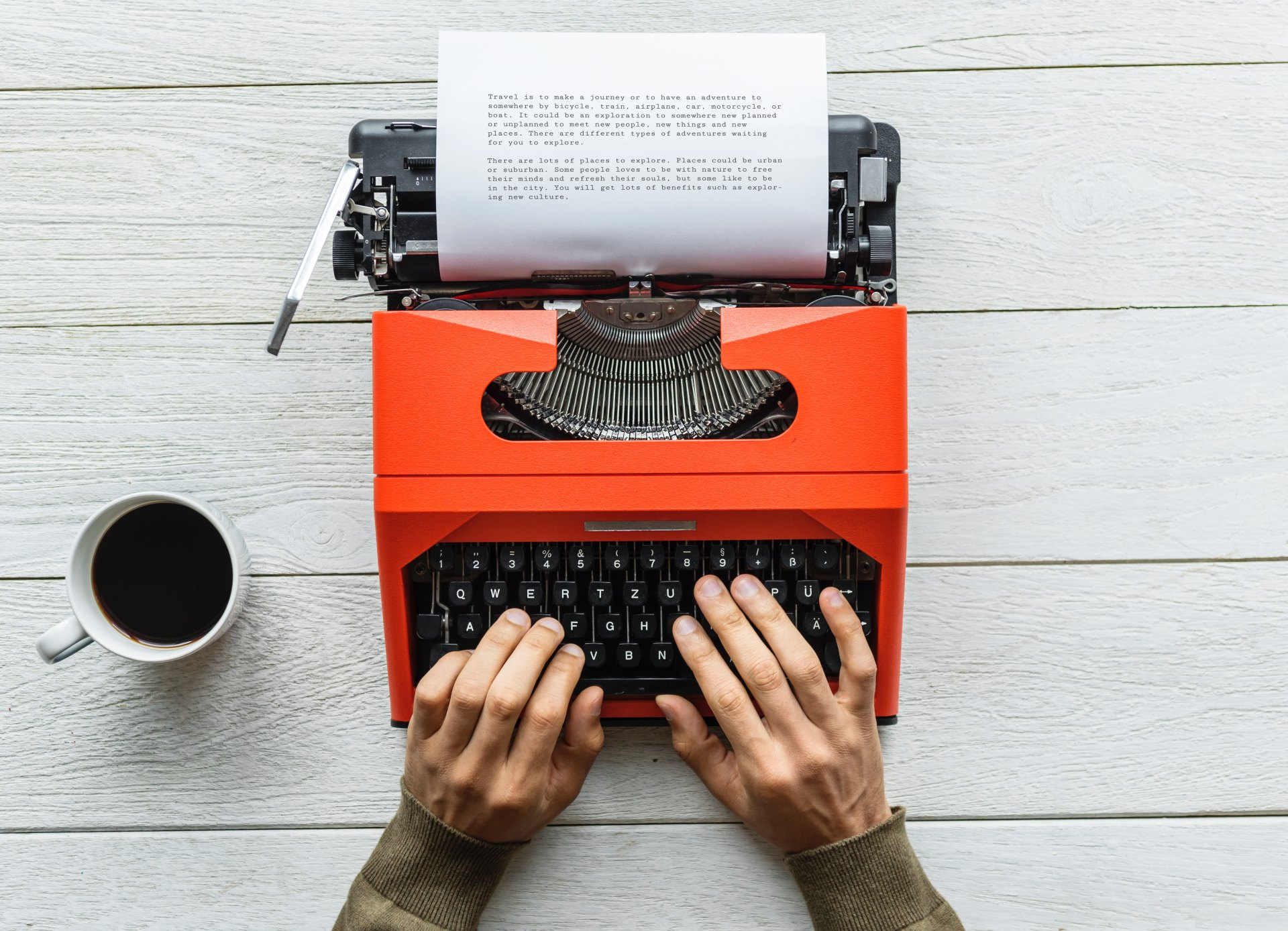 Ecrire à la machine
